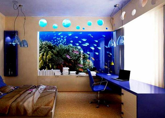 Large Wall Aquarium Installation By Bear Glass